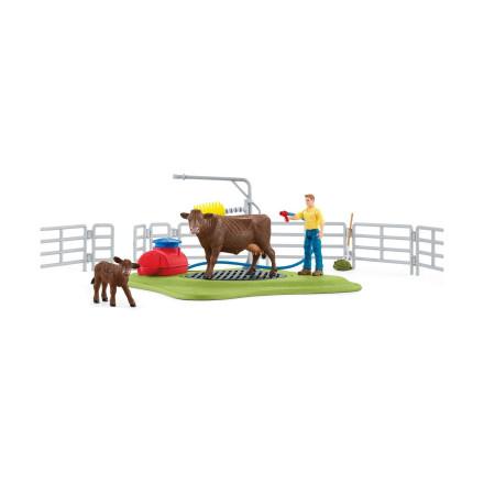 Набор Schleich Весёлая мойка для коровы