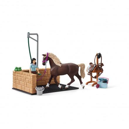 Набор Schleich Мойка для лошадей с Эмили и Луной