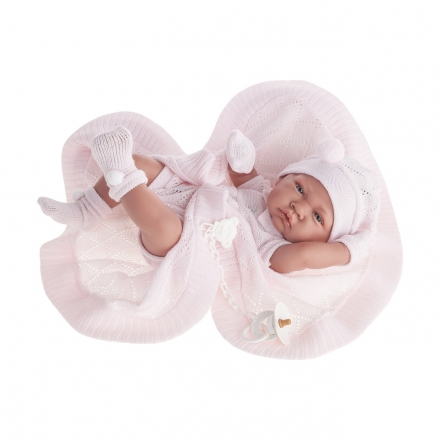 Кукла-младенец Тони (девочка) в розовом, 42 см
