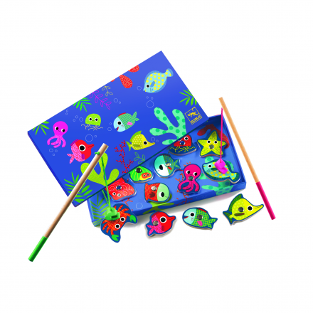 Магнитная игра-рыбалка Djeco Цвета