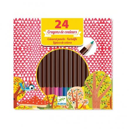 Цветные карандаши Djeco, 24 шт.