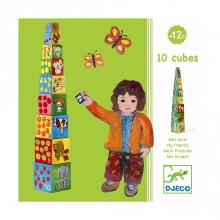Кубики-пирамида Djeco Мои друзья