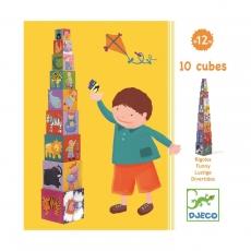 Кубики-пирамида Djeco Забавные кубики