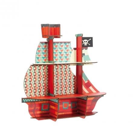 Пазл-полочка Djeco Пиратский корабль