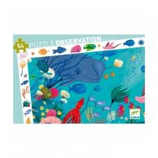 Пазл и игра на наблюдательность Djeco Океан, 54 детали