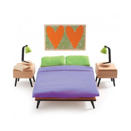 Мебель для кукольного дома Djeco Спальня родителей