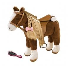 Коричневая лошадь с расчёской