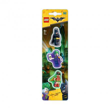 Набор ластиков Lego Batman, Robin, The Joker