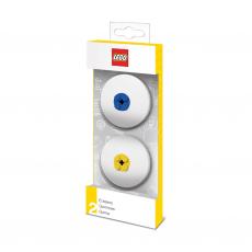Набор ластиков Lego, синий и жёлтый, 2 шт.
