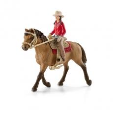 Набор Schleich Наездница с лошадью в стиле вестерн