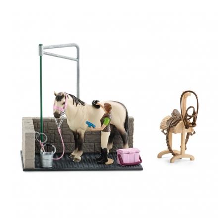 Набор Schleich для мойки лошадей