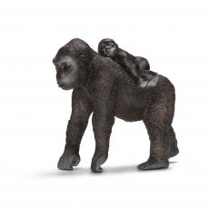 Фигурка Schleich Горилла, самка с детёнышем