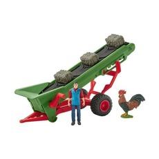 Набор Schleich Фермер с конвейером для сена