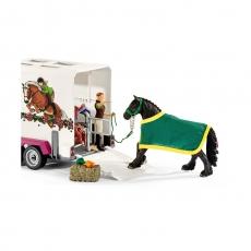 Набор Schleich Пикап с прицепом для лошади